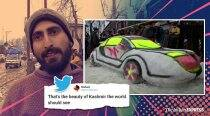 Kashmiri youth impresses netizens with 'snow car', says he can make Taj Mahal too