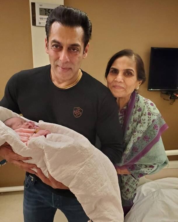 salman khan with arpita khan daughter ayat