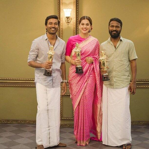 taapsee with vetrimaaran and dhanush