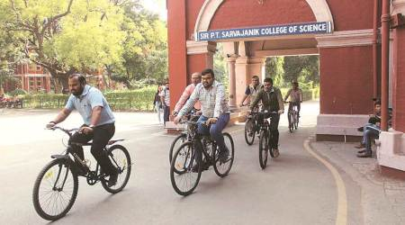 To fight pollution, Surat college asks staff to ride bicycles to work