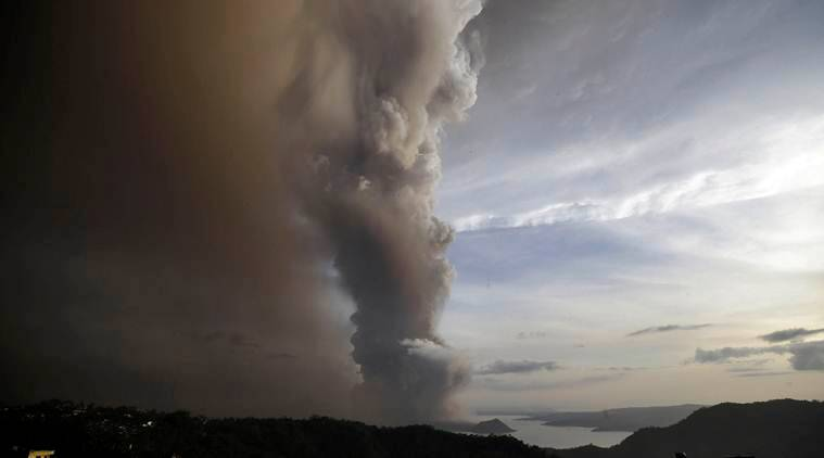 Philippine Taal volcano ash, volcano eruption Taal philippine news, world news indian express
