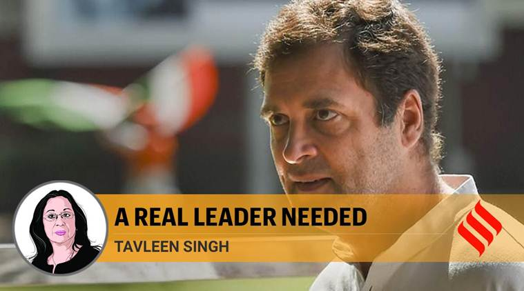 Congress must start looking for a new leader who will stand up for vales that the party professes