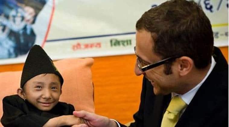 World's shortest man, Guiness world shortest man, Khagendra Thapa Magar, Nepal Khagendra Thapa Magar, Indian Express news