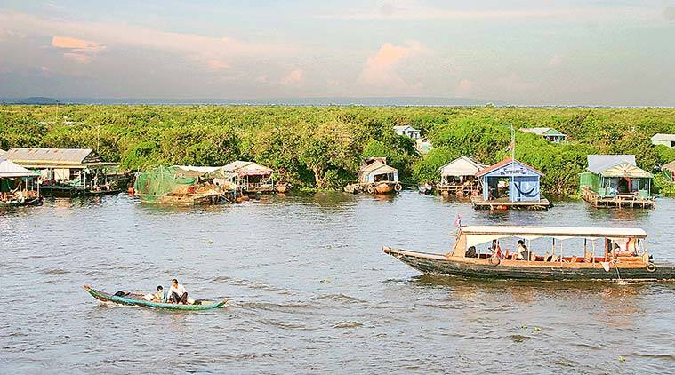 Cambodia Tonle Sap lake, Vietnamese living, Cambodia, Kampong Phluk, Siem Reap, indian express news