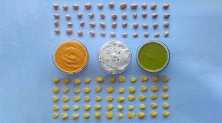 tricolour dips, healthy dips, superfoods, healthy recipes