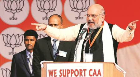 amit shah, amit shah on caa, amit shah on citizenship act protests, caa protests, ram temple, indian express news
