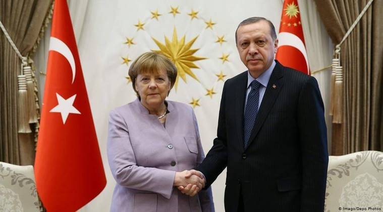 Germany, Angela Merkel,Recep Tayyip Erdoğan, Turkey news, Germany news, middle east, YPG, PKK, pakistan, afghanistan, syria, world news, breaking news, indian express news