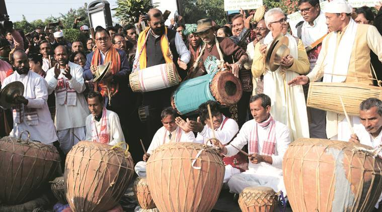 assam anti caa protests, citizenship law, aasu protests, citizenship amendment act, guwahati news, assam news, indian express