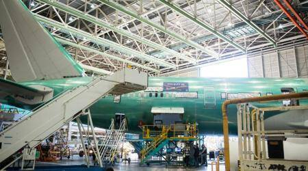 Boeing delays 777X first flight again due to bad weather