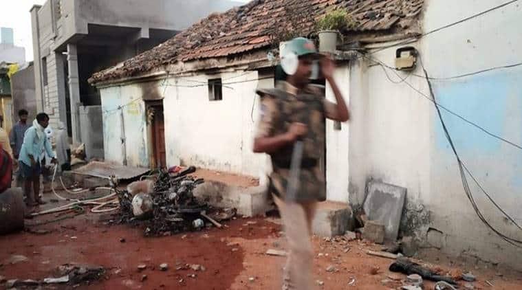 telangana town tensions, Bhainsa, internet suspended telangana, two communities clash bhainsa, telangana news, indian express, hyderabad news