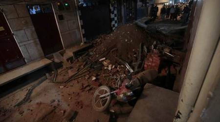 delhi building collapse, Bhajanpura collapse, delhi bhajanpura collapse, north east delhi collapse, delhi coaching class collapse, delhi coaching class building collapse death toll, delhi news, indian express