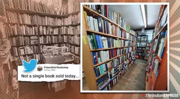 uk book store, Petersfield Bookshop, Neil Gaiman, UK bookstore no sale tweet viral, twitter reactions, trending, indian express, indian express news
