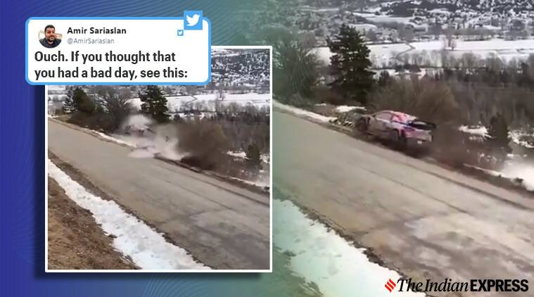Ott Tänak, Ott Tänak crach, Ott Tänak rally crash, rally driver car flips viral video, Rallye Monte Carlo World Rally Championship