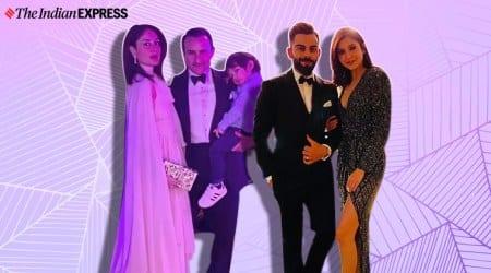 kareena kapoor, anushka sharma, kareena kapoor new year party, anushka sharma new year party photos, indian express, indian express news