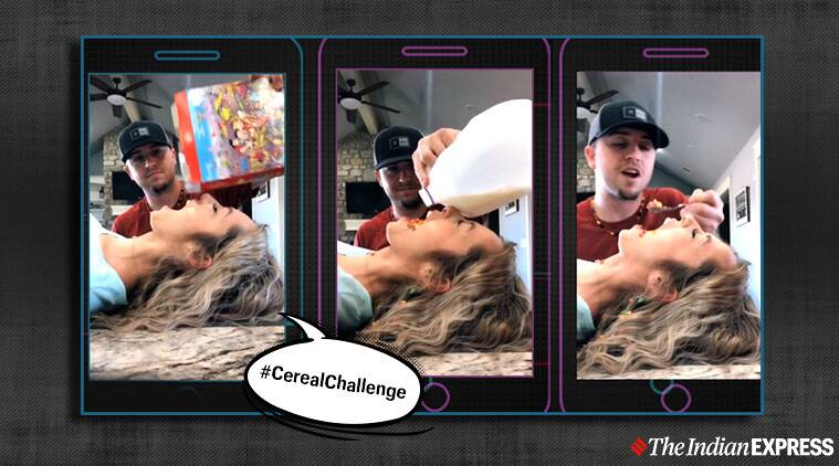TikTok's new viral 'cereal challenge' has people eating from other people's mouths