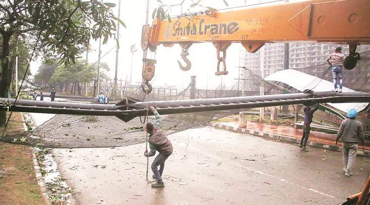 Chandigarh: MC, GMADA fail to remove fallen electricity poles, trees