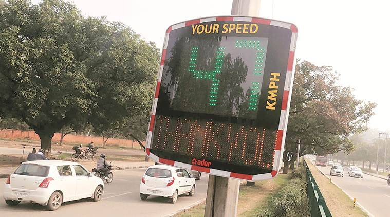 Six speed display boards installed on Chandigarh roads confuse drivers