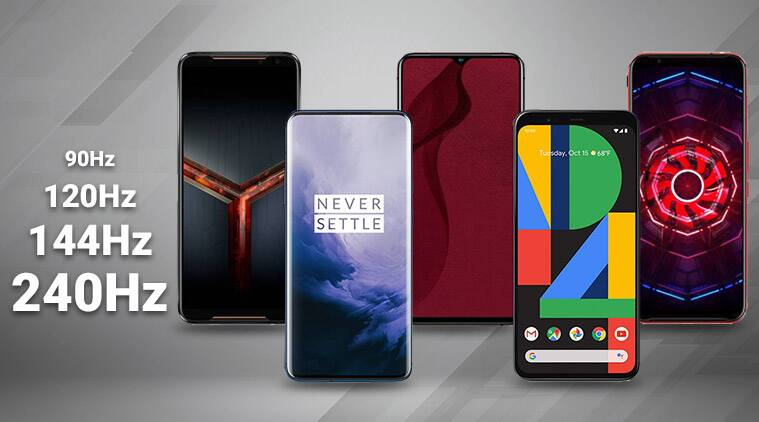 phones with high refresh rate, 90hz screen phones, 120hz phones, 144hz display, 240hz refresh rate, phones with 90hz display, phones with 120hz display, phones with 144hz display, phone with highest refresh rate