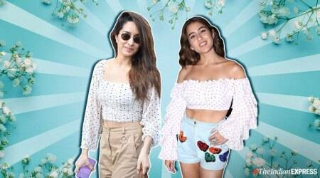 Shraddha Kapoor, Sara Ali Khan fashion, Shraddha Kapoor Sara Ali Khan polka dress top