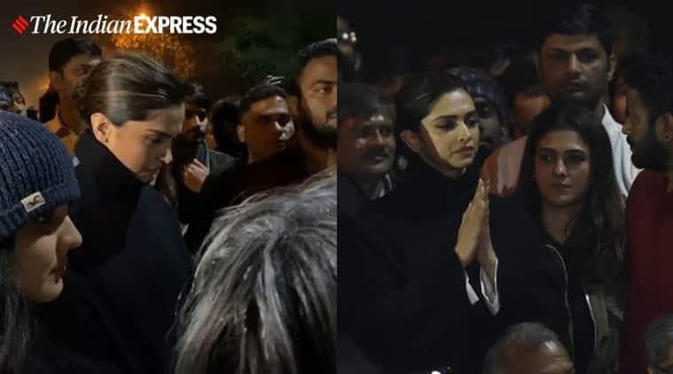 Deepika Padukone, Deepika Padukone JNU, Deepika Padukone JNU visit, Deepika Padukone JNU violence, Deepika Padukone JNU pictures, Deepika Padukone JNU attack