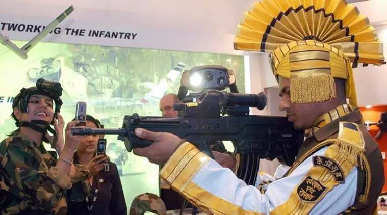 Defence expo, Yogi Adityanath, Indian Army, Defence Expo Lucknow, Rajnath Singh, Defence, Indian Express