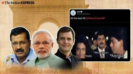 AAP, Congress, BJP, Meme, Delhi election, Meme war, Baazigar movie, Trending, Indian Express news