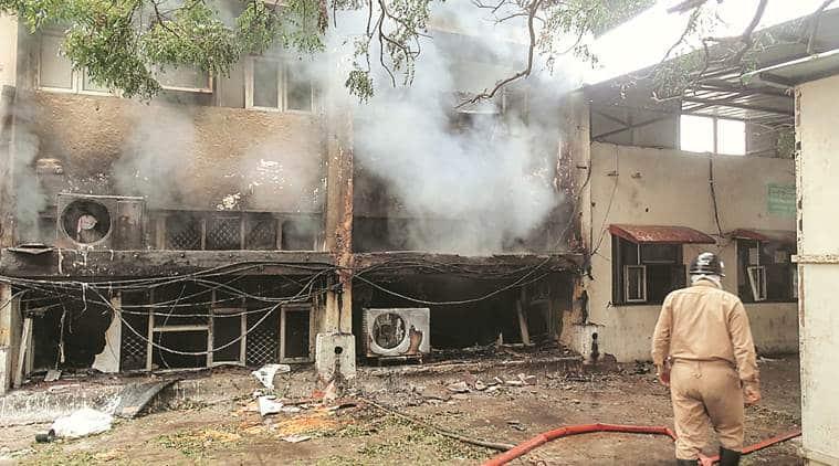 Civil Lines fire, fire at Civil Lines transport office, delhi fire news, delhi news