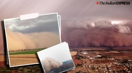 Australia, Dust storm in Australia, New South Wales, dust storm in New South Wales, Dust Storm, Viral videos, Trending, Indian Express news.
