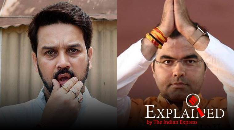 Anurag Thakur, Parvesh Sahib Singh Verma, BJP star campaigners list, what is a star campaigner, delhi elections 2020, Election Commission, indian express