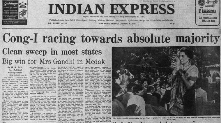 January 8 1980 forty years ago an indira victory
