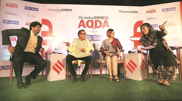 Express Adda, Abhijit Banerjee, Esther Duflo, Nobel laureate Abhijit Banerjee, Nobel laureate Esther Duflo, Abhijit Banerjee Express Adda, Esther Duflo Express Adda, India news, Indian Express