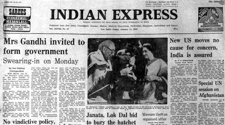 Forty years ago jan 11 1980 indira to take over