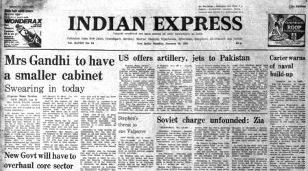 Indira Gandhi, Indira Gandhi's cabinet, Indira Gandhi government, Indira Gandhi's cabinet of ministers, Forty years ago, Express Editorial, Indian Express