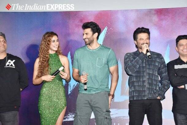 disha patani, aditya roy kapur and anil kapoor at malang trailer launch