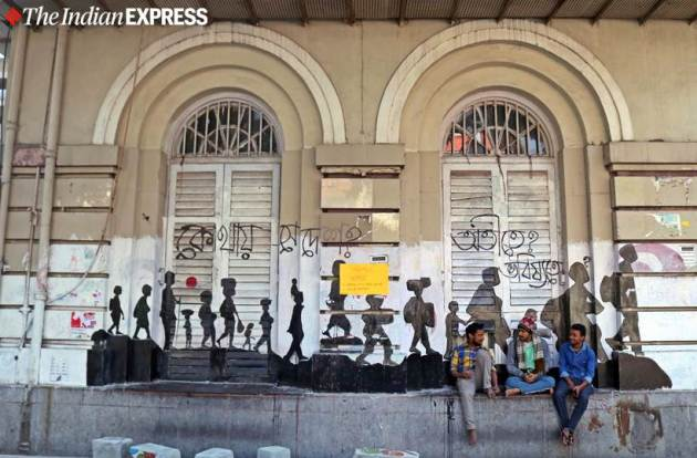 caa protests, caa news, presidency university, jadavpur university, graffiti, street art, art resistance, kolkata, indian express