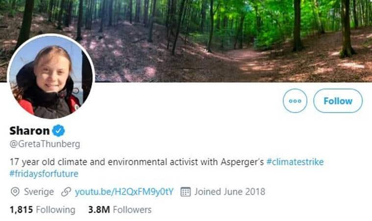 Greta Thunberg, Greta Thunberg Twitter, Greta Thunberg teen activist, teenage climate activist Greta Thunberg, World news, Indian Express