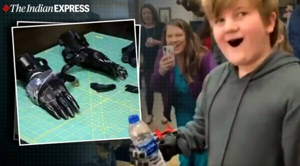 Boy gets custom made 3D printed fingers for Christmas, 3D printing, 3D printed fingers, Tennessee, Trending, Indian Express news.