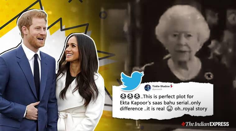 megxit. meghan markle, prince harry, queen elizabeth spoof video, Queen Elizabeth II addressal, twitter reactions