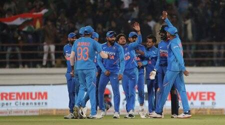 India blow away Australia as Virat Kohli's men level series with a 36-run win in Rajkot