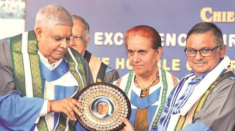 Dhankhar takes dig at CU V-C's absence at Xavier's convocation