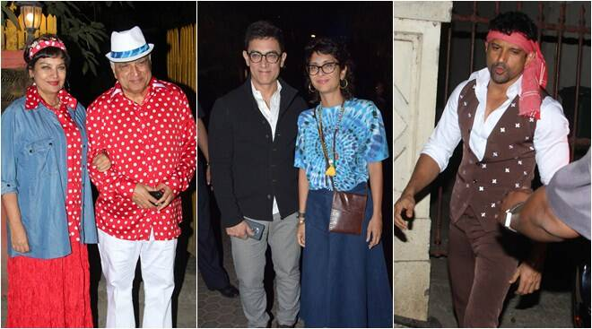 Aamir Khan, Anil Kapoor and others attend Javed Akhtar's birthday party