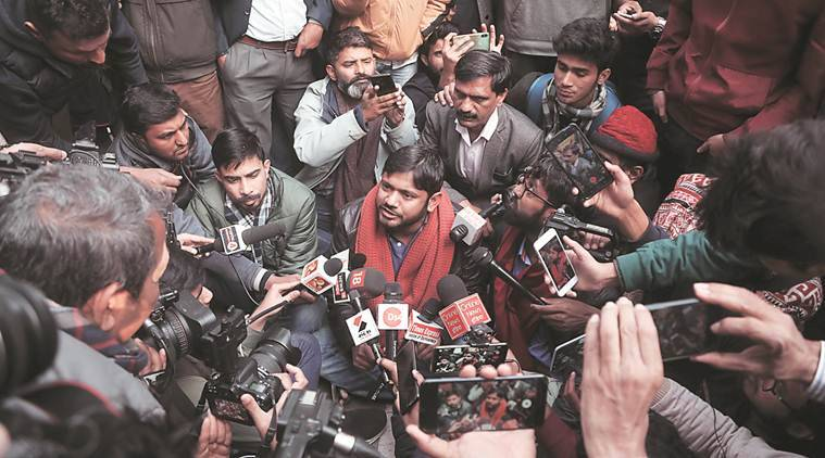 kanhaiya kumar, kanhaiya kumar jay shah remark, amit shah, kanhaiya kumar attacks amit shah, jnu sunday violence, jnu march rashtrapati bhawan, jnu march police lathicharge, delhi city news