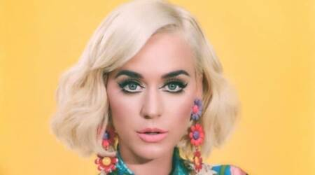 katy perry, katy perry fashion, katy perry upcycle fashion, katy perry sabyasachi, katy perry vogue fashion magazine cover, katy perry magazine cover, indian express, indian express news