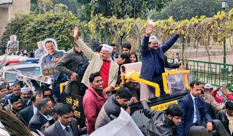 Arvind Kejriwal holds roadshow before filing nomination papers from New Delhi