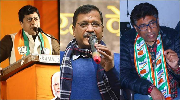 Delhi elections, Delhi assembly elections 2020, Who are the candidates fighting against kejriwal,Who is Romesh Sabharwal, Who is Sunil Yadav, BJP leader Sunil Yadav, Congress candidate Romesh Sabharwal, New Delhi candidates, Delhi news, Indian express news