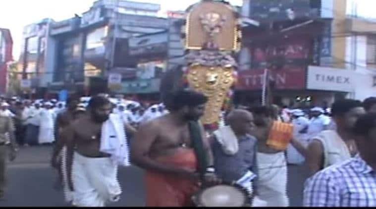 caa protests, caa protests kerala, kerala thrissur caa protests, Bhaktapriyam temple procession thrissur, kerala, kerala news, latest news, indian express