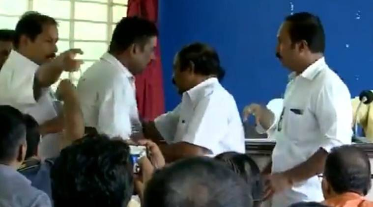 journalist manhandled by Senkumar's supporters, Senkumar supporters assault journalist, kerala journalist senkumar fight, kerala news