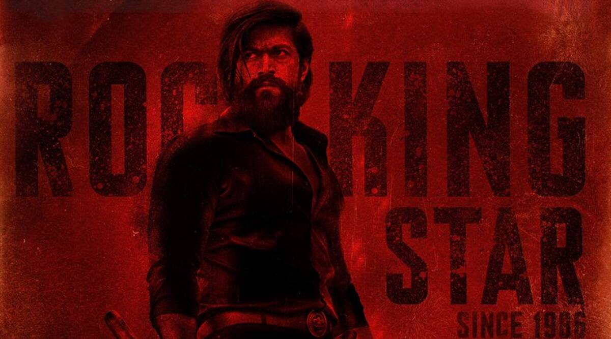kgf chapter 2 makers unveil new poster on yash s birthday entertainment news the indian express kgf chapter 2 makers unveil new poster