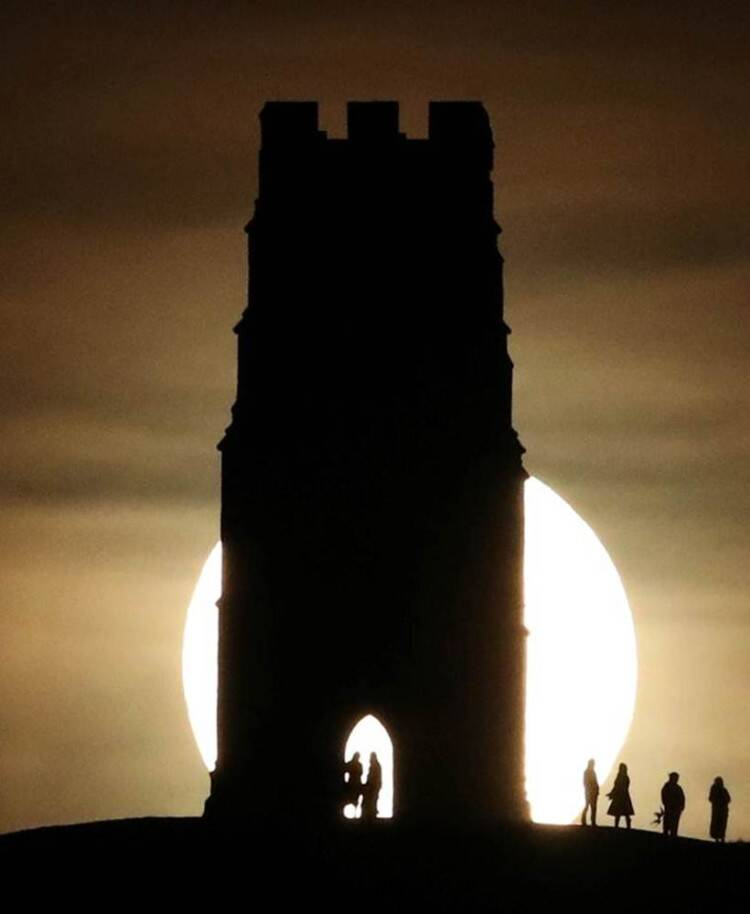 The lunar eclipse as seen from England. (Reuters)