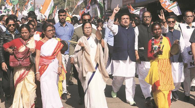 mamata banerjee, bjp, tmc vs bjp, bengal cm, caa protests, citizenship law, indian express
